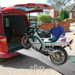 10' Aluminum Handicap Ramp Folding Wheelchair Scooter Mobility Portable Non-Slip