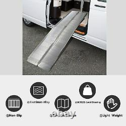 10' Aluminum Wheelchair Ramp Portable Folding Medical Mobility Scooter Threshold