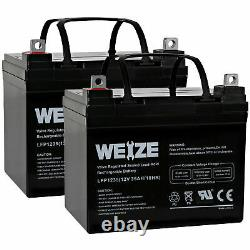12V 35AH Battery for Jazzy Select GT Power Chair Scooter 2 Pack