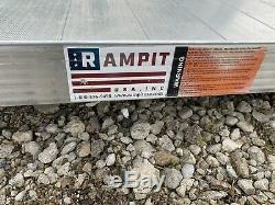 14 Aluminum Wheelchair Entry Ramp & Handrails Surface Scooter Mobility Access