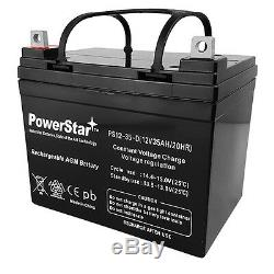 (2) PowerStar Replacement 12V 35Ah U1 Electric Wheelchair Scooter Batteries