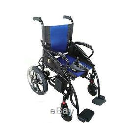 2019 New FDA Approved Blue Foldable Lightweight Electric Scooter Wheelchairs