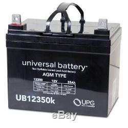 2PK NEW 12V 35AH 12 Volt 35 Amp Hour Battery Electric Wheelchair Scooter U1