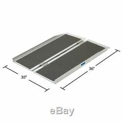 3' Folding Mobility Wheelchair Scooter Ramp Portable Aluminum
