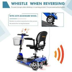 3 Wheeled Mobility Scooter Electric Powered Wheelchair Device Compact for Travel