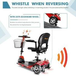 3 Wheels Mobility Scooter Electric Powered Wheelchair Device Travel, Elderly