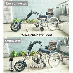 350W Electric Handcycle Wheelchair Conversion Kit+10AH Battery Mobility Scooter