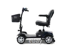 4 Folding Wheel Wheelchair Mobility Scooter Electric Powered Travel Elder 4.9MPH