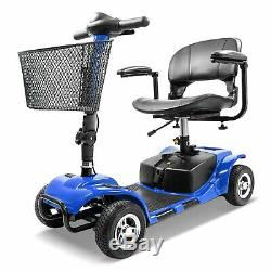 4 Wheel Mobility Scooter Electric Powered Wheelchair Device Compact for Travel