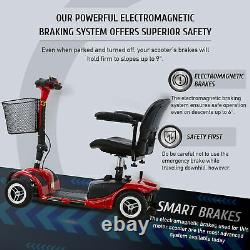 4-Wheel Mobility Scooter Power Travel Scooter Wheelchair Equivalent for Adults