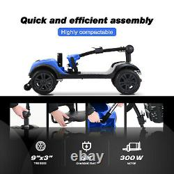4 Wheel Mobility Scooter Powered Wheelchair Electric Device Compact for elder