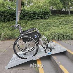 4FT Folding Aluminum Wheelchair Ramp Scooter Mobility Handicap Threshold Ramps