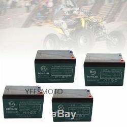 4Pcs 12V 12Ah 6-DZM-12 Battery for Electric Wheelchair Scooter Go Kart ATV Mower