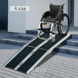 4ft\ Folding Aluminum Wheelchair Ramp Portable Mobility Scooter Carrier