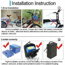 52V 20AH Electric Scooter Battery for 1000W 1500W E-Bike Skate Wheelchair Trike