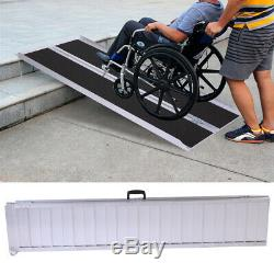 6' Aluminum Portable Wheelchair Ramp Mobility Non-slip Scooter Carrier, Multifold