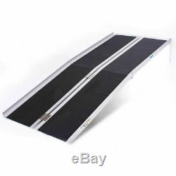 6' Portable Folding Aluminum Suitcase Threshold Ramp Wheelchair Mobility Scooter
