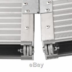 7' Aluminum Fold Portable Wheelchair Ramp Mobility Non-slip Scooter Carrier