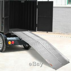 7' ft Aluminum Folding Wheelchair Scooter Mobility Ramp Portable Non-Slip