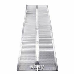 8ft Aluminum Wheelchair Ramp Folding Mobility Suitcase Threshold Scooter Carrier