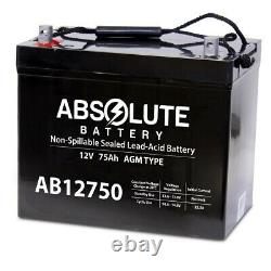 AB12750 12V 75AH Group 24 Battery Scooter Wheelchair Golf Cart Electric DC