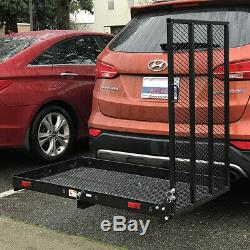 ALEKO Wheelchair Power Scooter Folding Cargo Carrier Rack Foldable Ramp 400LB