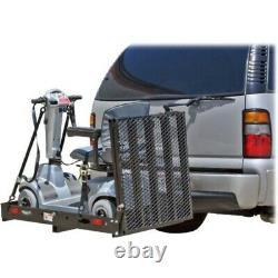 ALEKO Wheelchair Power Scooter Folding Cargo Carrier Rack Foldable Ramp 500LB
