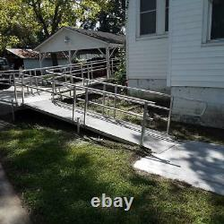 Aluminum Scooter Wheelchair Handicap Ramp, 55' Ramp, with 2 Platforms, Pickup Only