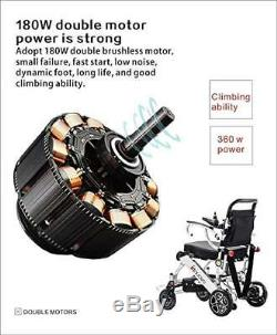 Fold & Travel Motorized Electric Power Wheelchair Scooter Only 50lb holds 360lb