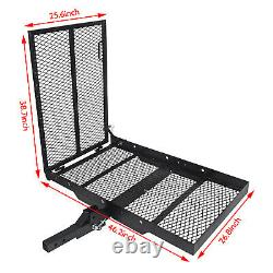 Fold Up Mobility Carrier Wheelchair Electric Scooter Rack Hitch Medical Ramp