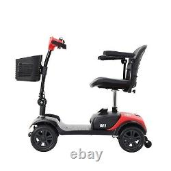 Foldable Drive TRAVEL Electric 4 wheels Mobility Scooter Wheel chair Lightweight