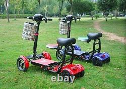 Foldable Lightweight Power Mobility Scooters Easy Travel Electric Wheelchair