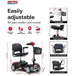 Folding Device Electric Power Mobility Scooter 4Wheel Compact Scooter WheelChair