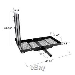 Folding Disable Electric Wheelchair Hitch Carrier Mobility Scooter Loading Ramp
