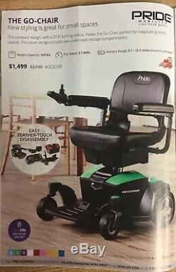 GO-CHAIR Pride Mobility Electric Powerchair Purchased In 2018