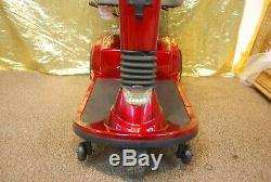 Golden Companion Electric 3-Wheel Scooter Wheelchair with Captains Seat Red