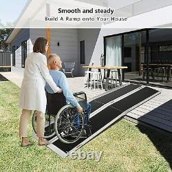 Livebest 6'/8' Wheelchair Ramp Portable Non-slip Mobility Scooter Threshold Ramp