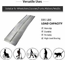 Lonabr 10' Portable Wheelchair Ramp Non-Slip Ramps Mobility Scooter Threshold