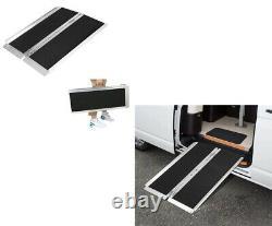 Lonabr 3Ft Folding Wheelchair Ramp Portable Mobility Scooter Threshold Non-Slip