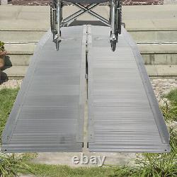 Luckyermore 10Ft Portable Wheelchair Ramp Folding Anti-Slip Mobility Scooter
