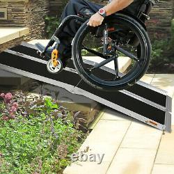 Luckyermore 6/8Ft Wheelchair Ramp Anti-Slip Mobility Handicap Scooter Medical