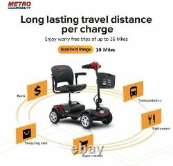 METRO MOBLITY 4 Wheel M1 Mobility Scooter Electric Power Mobile Wheelchair 265lb