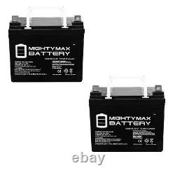 Mighty Max 2 Pack 12V 35AH Bruno Power Chair Scooter Battery
