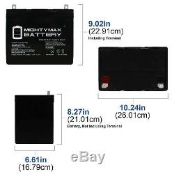 Mighty Max ML75-12 12V 75Ah Battery for Scooter Wheelchair Golf Cart Electric DC