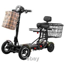 New Foldable Lightweight Mobility Scooter Heavy Duty Perfect Travel