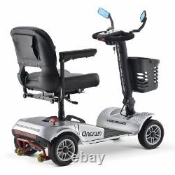 ONEFUN Folding Electric Powered Mobility Scooter 4 Wheel Wheelchair Travel Elder