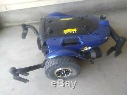 Pride J6 Wheel Chair Power Electric Mobility Scooter Blue Base & Cover, No Seat