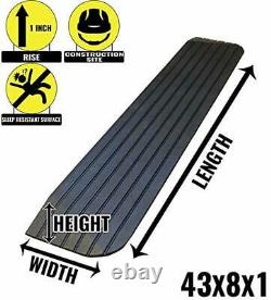 RK Safety RK-RTR Rise Solid Rubber Power Wheelchair Scooter Threshold Ramp