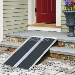 USA 4/6ft Folding Aluminum Wheelchair Ramp Portable Mobility Scooter Carrier