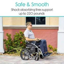 Vive Compact Folding Power Wheelchair up to 4mph speed and up to 12 Mile Range